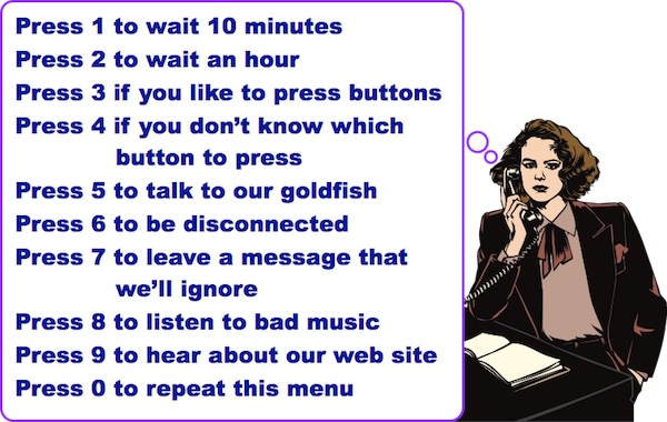 Voice Mail Cartoon, using clip art bought by Steve Kaye